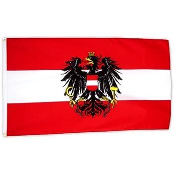 flaggenking 214sterreich flaggefahne mit wappen wei223 150