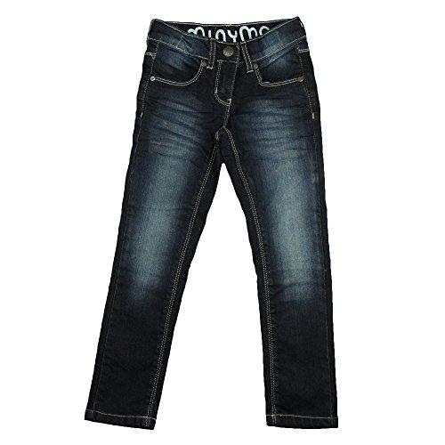 8 Kinder-jeans-jeans (Minymo Kinder Mädchen Jeans, Hüftsitz, Leichte Waschung, Alter 8-9 Jahre, Größe: 134, Farbe: Dunkelblau, 3738)