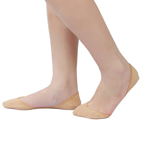 CAcB sox Women's Ultra Low Cut Socks w/ Ball of foot Cushion & Silicone Grips