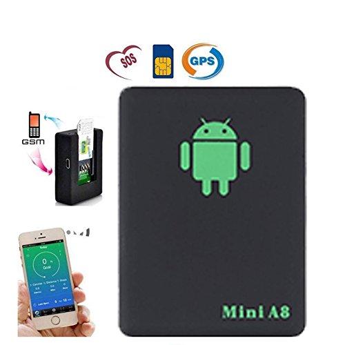 416CBl8H6PL - qzt A8Mini Global GPS Localizador Multifuncional espía oído Bug Personal gsm Localizador Tracker Finder posicionamiento Audio Vigilancia SOS Seguridad para el hogar para niños/Mascota/Coche
