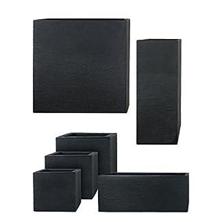 Pflanzwerk® Maceta Cube Antracita Plástico Mejor Precio *Tamaño Resistente a Las heladas* *Protección UV* *Calidad Europeo*