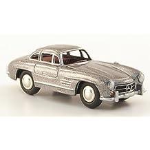 Mercedes 300 SL (W 198), met.-grau, Modellauto, Fertigmodell, Bub 1:87