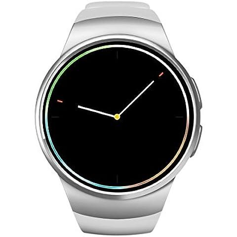 KW18 Reloj Inteligente Smart Watch IP67 impermeable antipolvo 1,3 pulgadas, Bluetooth 4.0 frecuencia cardíaca sensor para IOS & Android- fase de seguimiento / seguimiento / apagado Sedentario alarma / perdido Anti - Blanco