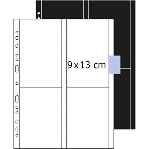HERMA 7560 Fotophan Fotosichthüllen weiß (9 x 13 cm hoch, 250 Hüllen, Folie) mit Eurolochung für Ordner und Ringbücher, beidseitig bestückbare Fotohüllen