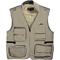 Tonba Photography Jacket Vest Outdoor with Netted Ventilation Adjustable Waist. Multi-Utility Pocket.