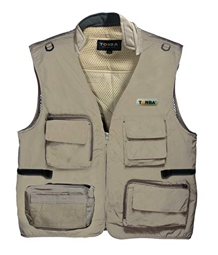 Osaka Tonba Photography Jacket Vest Outdoor with Netted Ventilation Adjustable Waist. Multi-Utility Pockets