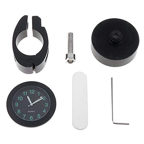 CamKpell Universal Wasserdichte Fahrraduhr In Dark Clock Uhr Alluminium Legierung Zifferblatt Mini für Montage Fahrrad Lenker