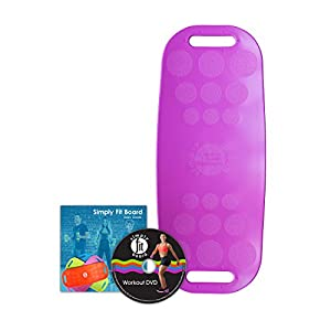 Simply Fit Unisex Balance Board, Ab Toner with Bonus Workout Dvd, Magenta, One Size