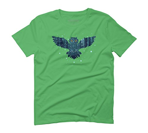 Snowy Owl Men's Graphic T-Shirt - Design By Humans Green