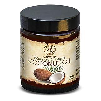 Aceite de Coco 100ml – Sin Refinar – Cocos Nucifera Oil – Indonesia – 100% Puro y Natural – Prensado en Frío – Ideal para Cabello – Piel – Labios – Cara – Cuerpo – Ideal para la Masaje