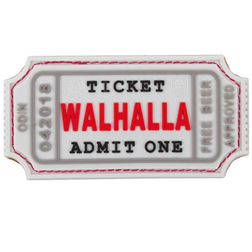 Jackets To Go JTG Walhalla Ticket - Odin Approved, White 3D Rubber Patch
