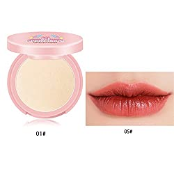 3CE Eunhye House Brand Lips Makeup Sexy Lip Gloss + Lip Liner 2 in one & Face Makeup Powder together set cosmetic