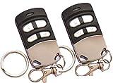 2 Stück Funkhandsender 433.92 und 868.35 robust, langlebig, elegant geeignet für Garagentore. Dieser Garagentoröffner ersetzt bis zu 4 Funk Fernbedienungen und ist geeignet für Türen, Sektionaltor Garagen, Videoüberwachung, Rollotore, Alarmanlagen, Funksteckdosen, Funk-Schaltern, Bewegungsmelder, usw. dieser Universal Handsender deckt einen breiten Frequenzbereich ab und kann auch diverse Rolling Codes verarbeiten.