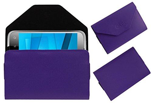 Acm Premium Pouch Case For Karbonn Smart A15 Flip Flap Cover Holder Purple  available at amazon for Rs.179