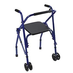 WZHWALKER Gehhilfe Für Ältere Menschen, Gehhilfe Mit Gehweg Für Zwei Behinderte, Blau