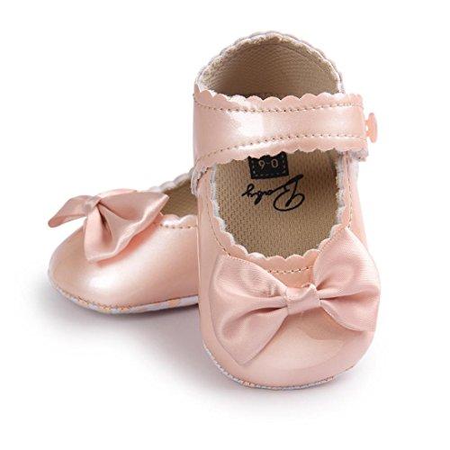 Schuhe Kinder - Omiky® Baby-Bowknot-Leder-Schuh-Turnschuh-Rutschfeste weiche Sole-Kleinkind Gold
