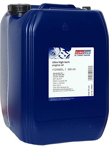 EUROLUB FORMEL 1 SAE 5W-40 Motoröl, 20 Liter