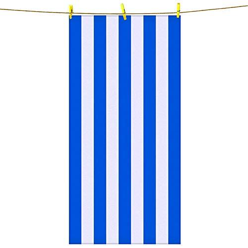 Telo mare microfibra, telo mare antisabbia asciugamano leggero blu, morbido, assorbente, sedia da spiaggia ad asciugatura rapida, asciugamano per spiaggia, viaggi, sport, nuoto e campeggio
