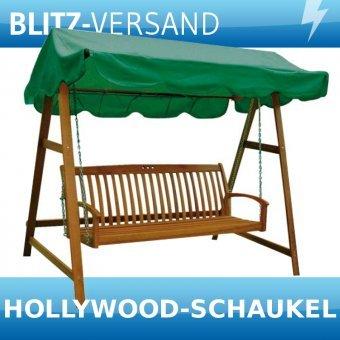 Hollywoodschaukel Holz MIAMI Schaukel 3-Sitzer Gartenschaukel Gartenmöbel Holz - 2