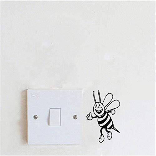 (WFYY 3 stücke Wandaufkleber Biene Bumble Honey Blume Schalter Aufkleber Lustige Abnehmbare Vinyl Wandaufkleber Für Kinderzimmer)