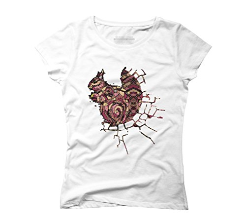 ABSTRACT SQUIRREL Women's Graphic T-Shirt - Design By Humans White