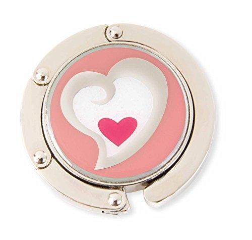 Geldbörse Hänger Herz in Herz Handtasche Aufhänger (Samt Geldbörse Herz)