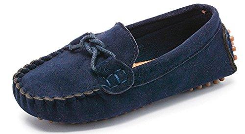 KVbaby Slip-on Wildleder Loafers Mokassin für Jungen und Mädchen Kinder Mokassin Comfort Oxford Freizeitschuhe Halbschuhe (Loafer-slip-ons)