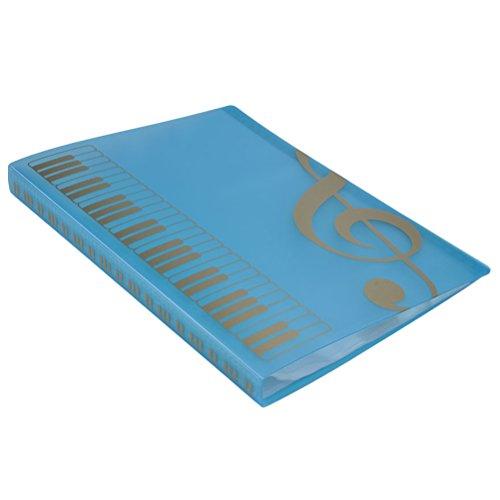 ROSENICE Musik Blatt Datei Papier Dokumente Speicher Ordner 40 Taschen Halter (blau) (Tasche-datei-ordner)