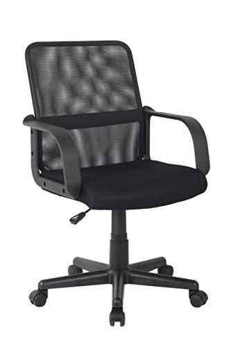 SixBros. Bürostuhl Drehstuhl Schreibtischstuhl Schwarz HLC-1278-2/2103