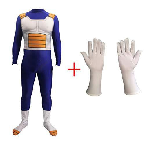 Kostüm Vegeta Super Saiyajin - Cosplay Dragon Ball Super Saiyajin Vegeta Strumpfhosen Kleidung Weihnachten Halloween Kostüm Für Erwachsene/Kinder Tragen Child-XL