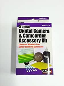Kit de nettoyage pour caméscope Canon XA10 Comprend: Poussière Pinceau souffleur, solution pour lentilles de bouteille, chiffon de nettoyage non abrasif, tissu Paquet de 25 Lens, 5 Coton