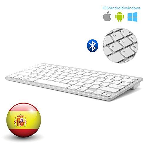 Español Layout Teclado Inalámbrico Bluetooth 3.0 Conexión,