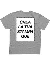 Amazon.it  maglietta personalizzata - Grigio   T-shirt   T-shirt ... 6a0cc847b4f