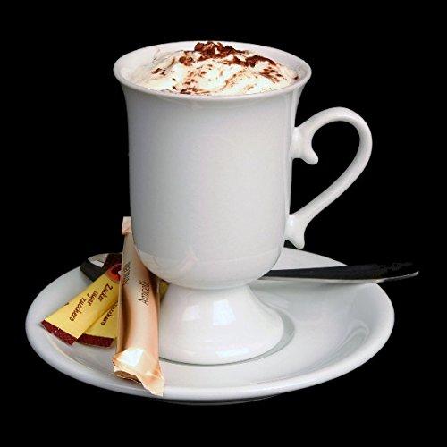 Pharisäer Becher 0,20 l mit Untertasse Set 2 tlg. Irish Coffee Tassen Kakao Becher Kaffeetassen aus Porzellan Irish Coffee Becher