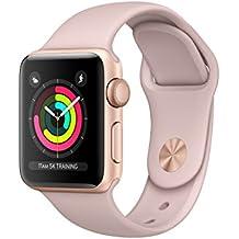 Apple Watch Series 3 OLED 26.7g Oro reloj inteligente - relojes inteligentes (Oro, Aluminio, Rosa, Fluoroelastómero, Rectangular, 130 - 200 mm)