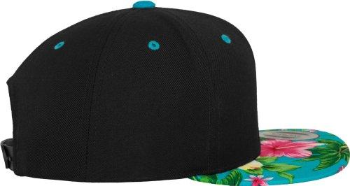 Casquette Flexfit Hawaiian Snapback Cap noir/aqua