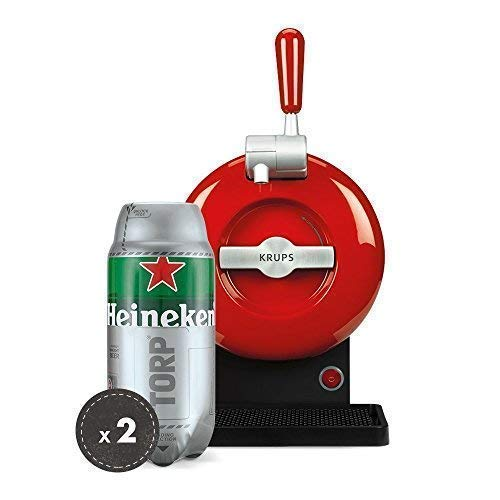 The SUB Pack | Draft beer handle, THE SUB Rouge Edition, 2 TORP Heineken beer keg of 2 liters
