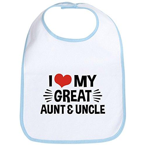 CafePress I Love My Great Aunt & Uncle Cloth Baby Bib