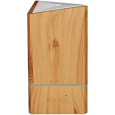 listen2u Diffusore di Oli Essenziali 200ml Grana del legno ad ultrasuoni Aromaterapia Umidificatore (forma triangolare)