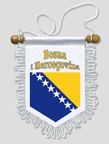 KOO Interactive - Bosnien und Herzegowina - 13 x 15 cm - Auto Wand Fahne Flagge Wimpel