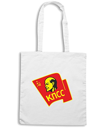 T-Shirtshock - Borsa Shopping TCO0051 Communist-party-of-Russia Bianco
