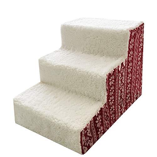 Jjzd scale per animali domestici 3 gradini per cani e gatti di taglia piccola e media per letti alti e divano, battistrada rimovibile con moquette lavabile
