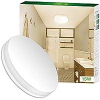 LE Deckenleuchten, 15W ersetzt 100W Glühbirne, LED Deckenlampe 1250lm Warmweiß, Ideal für Badezimmer, Flur, Küche, Wohnzimmer usw.