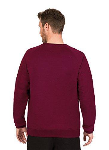 Trigema Herren Sweatshirt 675501, Einfarbig Rot (Chianti-Melange 639)