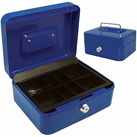 Mohoo salvadanaio/Cassetta Portavalori/Cassetta di sicurezza blu metallo