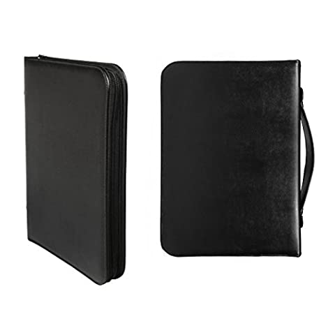 Tablet-ready Executive Padfolio by Walden Co. | Slim leather briefcase with A4 clipboard, zipped folders & smooth handle. Protects iPad, Galaxy Tab & Surface Pro in anti-shock pocket. Bonus: