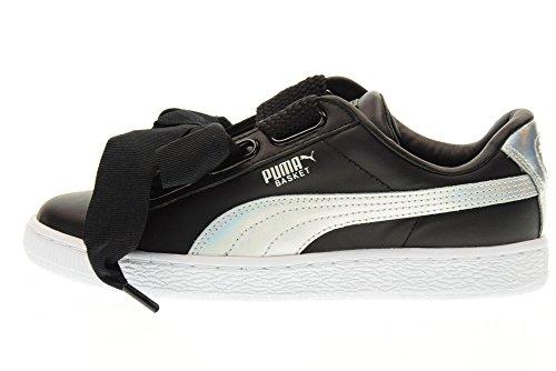 Puma Basket Heart Explosive 36362602, Scarpe sportive Nero-argento