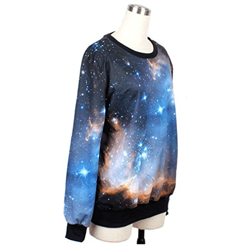 THENICE Femme impression manches longues Sweat-shirts Galaxy Star