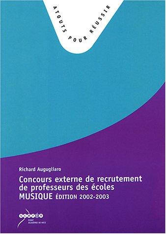 Concours externe de recrutement de professeurs des écoles : Epreuve de musique, Edition 2002-2003