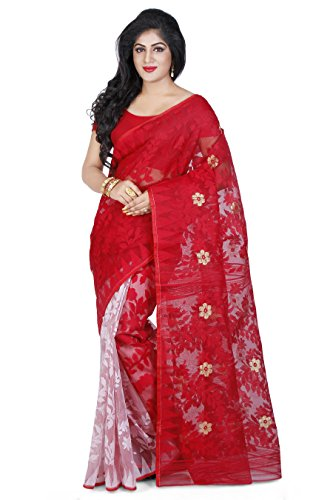 Wooden Tant Women's Silk Cotton Saree (Dj05_Multicolor)